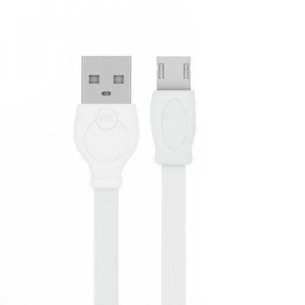 Καλώδιο φόρτισης & συχρονισμού USB-A -> micro 1m full speed άσπρο WDC-023 WK