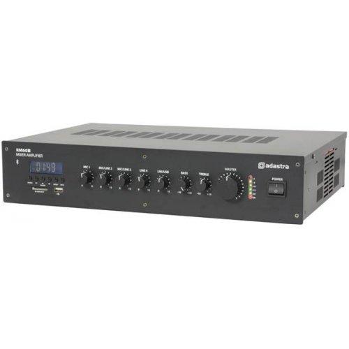 Ενισχυτής μικροφωνικός 230VAC 60W 100V 2xMIC/LINE/USB/FM/Bluetooth RM60B 953.113UK Adastra