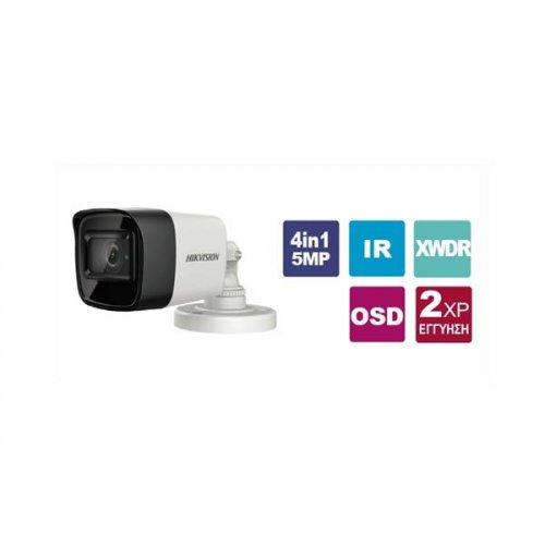 Κάμερα Bullet IR 2.8mm IP67 Turbo-HD 5MP DS-2CE76H8T-IT3F 2.8 Hikvision