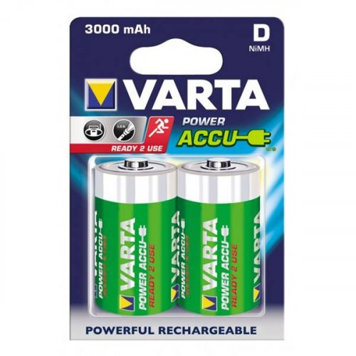 Μπαταρία επαναφορτιζόμενη 1,2V R20 D 3000mAh Νi-Mh BL2pcs ACCU 56720 VARTA