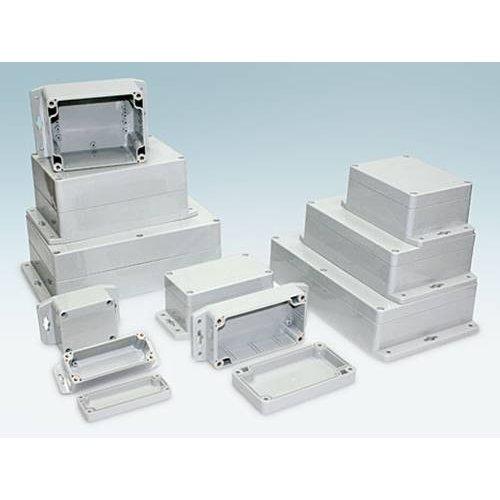 Κουτί Πολυκαρβονικό IP67 120x120x60mm γκρί με αποσπώμενη πρόσοψη και οπές G278MF Gainta
