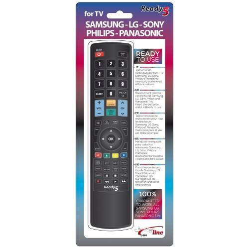 Τηλεχειριστήριο για όλες τις Samsung LG Sony Philips Panasonic TV Ready 5 1713 Jolly Line