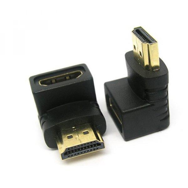 Αντάπτορας HDMI αρσενικό -> HDMI θηλυκό με γωνία 90* CHA-011 Anga