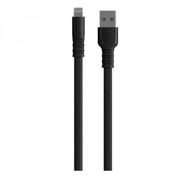 Καλώδιο φόρτισης & συχρονισμού USB-A -> Lightning 1m full speed μαύρο WDC-066 WK