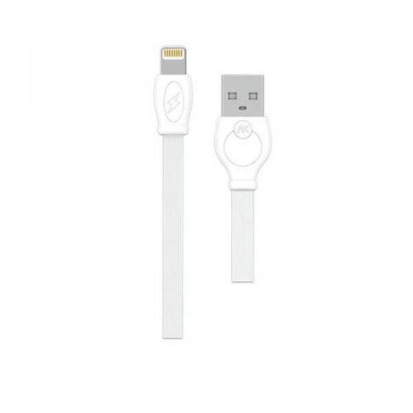 Καλώδιο φόρτισης & συχρονισμού USB-A -> Lightning 2m full speed άσπρο WDC-023 WK