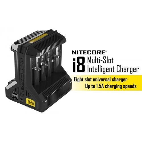 Φορτιστής μπαταριών Li-ion, IMR, Ni-MH, Ni-Cd, AA, AAA, C, D i8 Nitecore