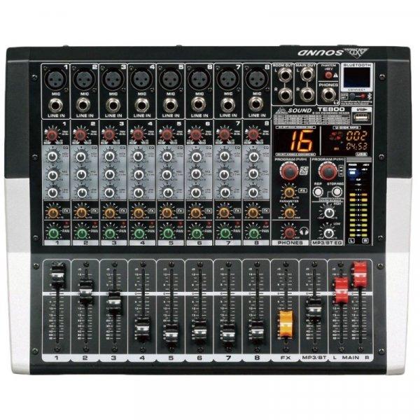 Κονσόλα αυτοενισχυόμενη 8 καναλιών 2x250W 4Ω TE800 AXD sound