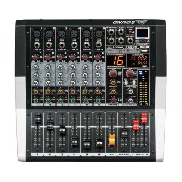 Κονσόλα αυτοενισχυόμενη 6 καναλιών 2x250W 4Ω TE600 AXD sound