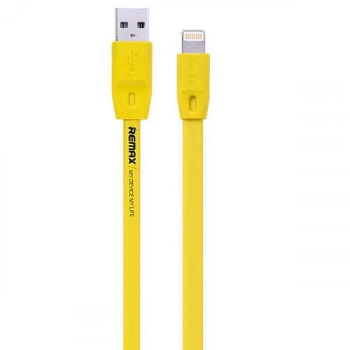 Καλώδιο φόρτισης και συγχρονισμού USB A -> iphone 6 2m κίτρινο RC-001 Remax