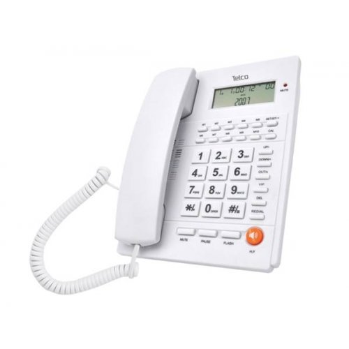 Τηλέφωνο Caller ID λευκό TM-PA117 TELCO