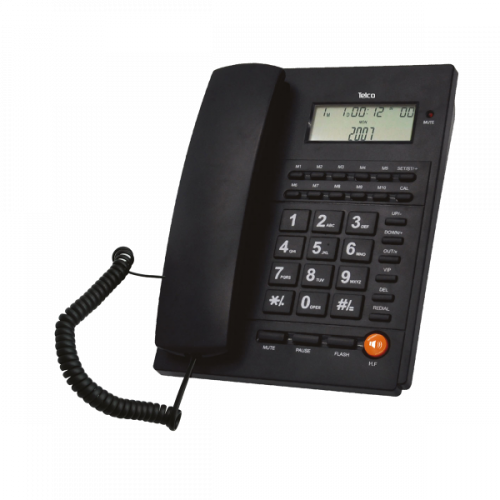 Τηλέφωνο ενσύρματο caller ID μαύρο TM-PA117 Telco