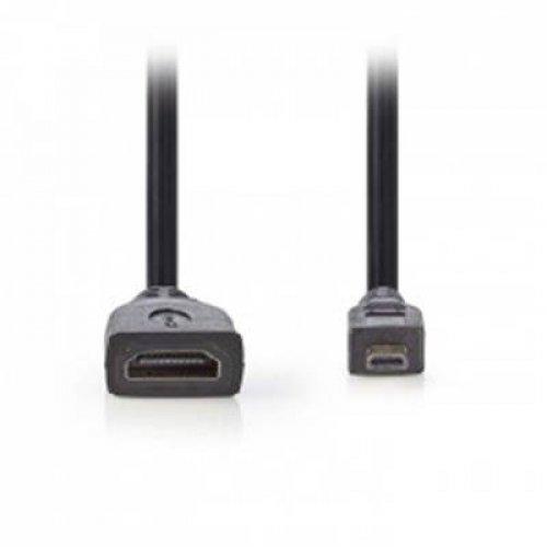 Αντάπτορας micro αρσενικό -> HDMI θηλυκό 0.20m ΨΩΓΠ34790ΒΚ02Nedis