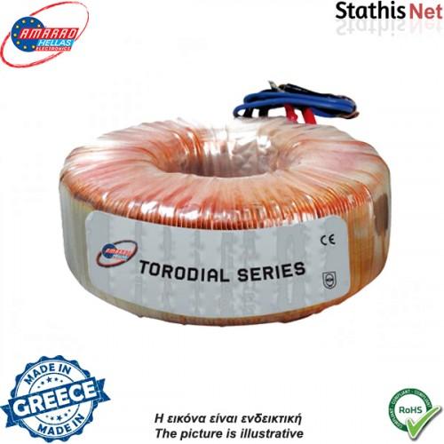 Μετασχηματιστής τοροϊδης 230V->1x12V 500mA + 1x10V 7A
