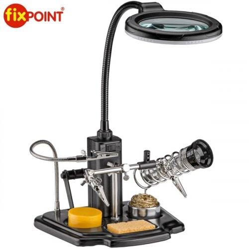 Kit συγκόλλησης με φωτιστικό LED και μεγεθυντικό φακό 45241 FixPOINT