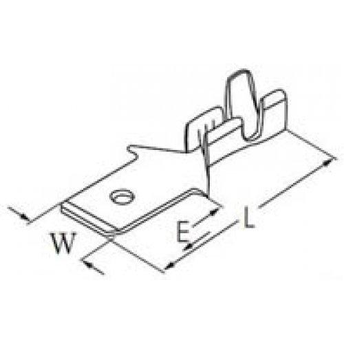 Ακροδέκτης γυμνός συρταρωτός αρσενικός 4.8mm-1.3mm (805202)