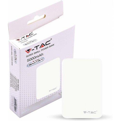 Power bank 5000mAh με διπλό USB άσπρο 8191 VT-3503 V-TAC