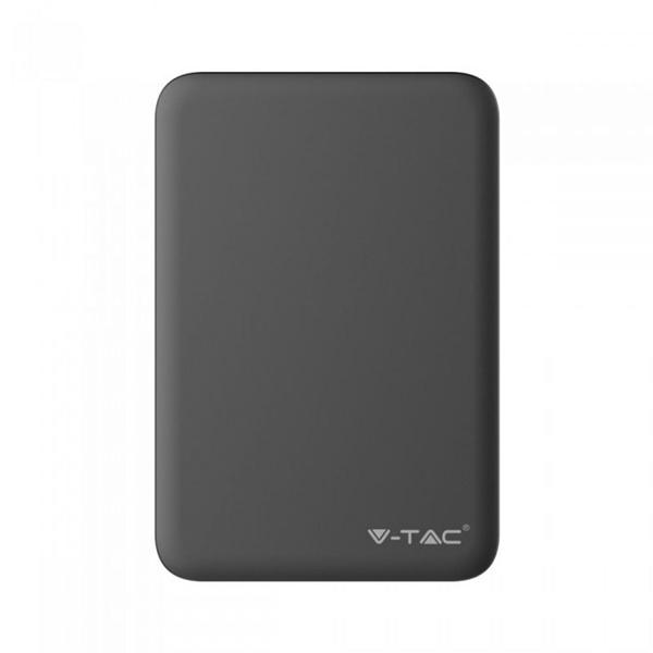 Power bank 5000mAh με διπλό USB μαύρο 8193 VT-3503 V-TAC