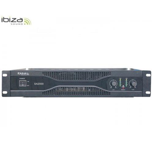 Ενισχυτής ήχου τελικός PA 2x1000W SA2000 Ibiza Sound