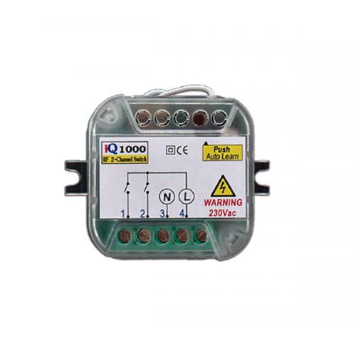 Πλακέτα τηλεχειρισμού φωτισμού 2 καναλιών 230V 433,92Mhz IQ1000 ON/OFF Autotech