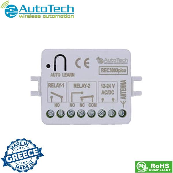 Πλακέτα τηλεχειρισμού 12/24v AC/DC 433,92 Mhz REC 3003 pico Autotech