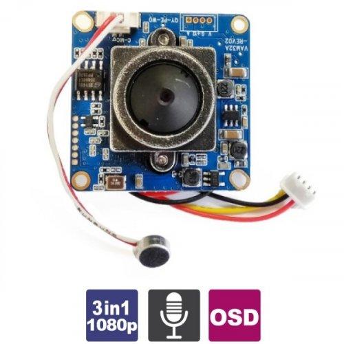 Module κάμερας pinhole 3 in 1 (πλακέτα) 1080p JBF-501 Crow
