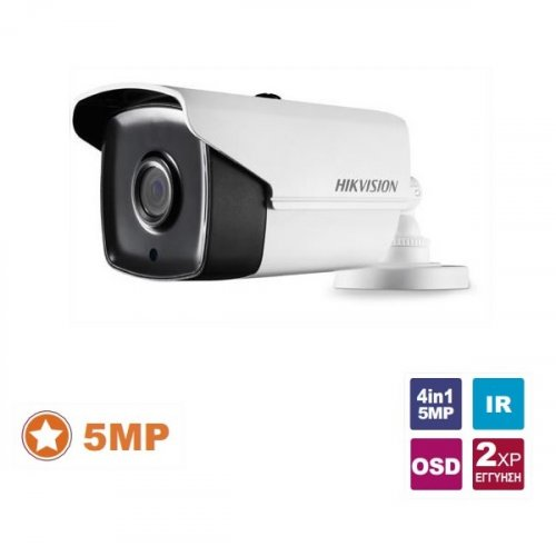 Κάμερα Bullet IR 2.4mm IP67 Turbo-HD 4.0 5MP DS-2CE16H0T-ITF Hikvision