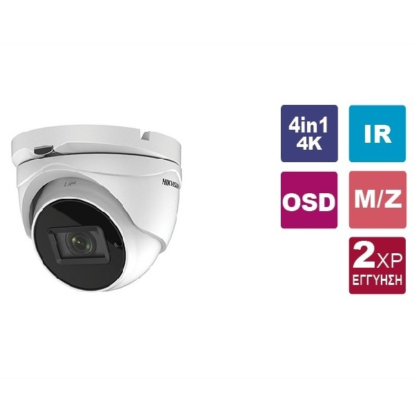Κάμερα Dome IR 2.7~13.5mm IP67 Turbo-HD 8MP (4K) DS-2CE79U1T-IT3ZF Hikvision