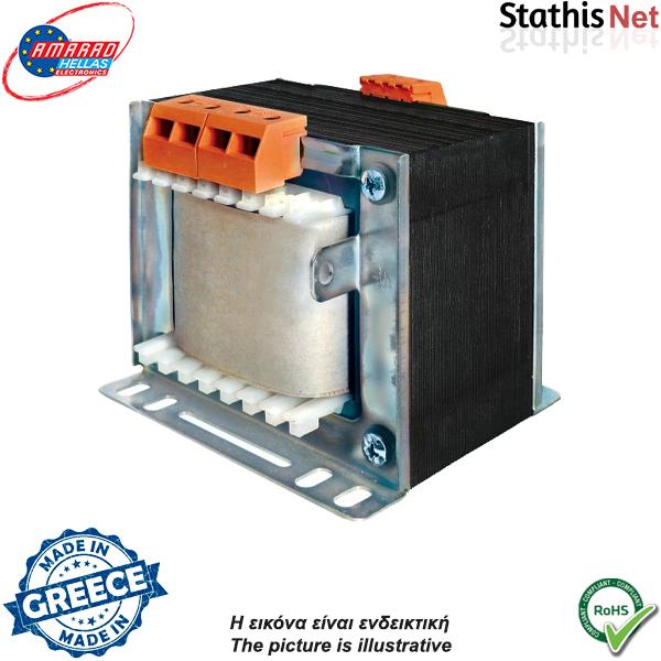 Μετασχηματιστής 230V in -> out1 x 115v AC 80VA