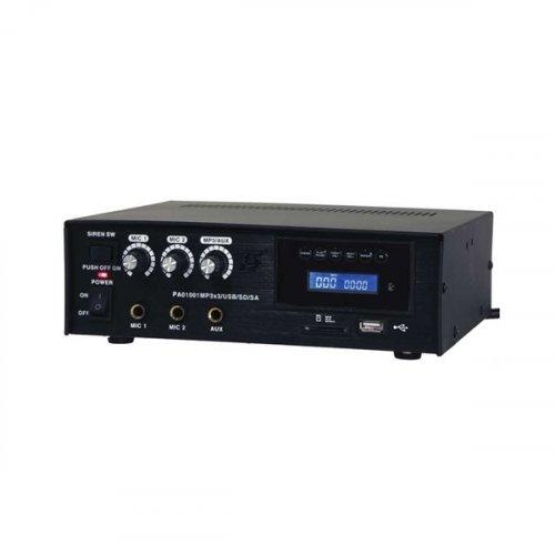 Ενισχυτής μικροφωνικός 12V + 230V 60W 2xMIC/USB PAA60USB LTC