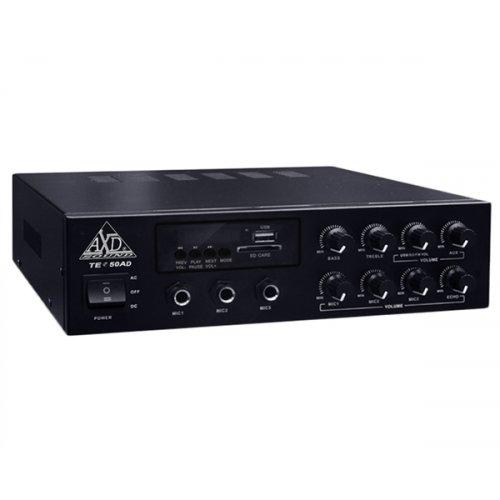 Ενισχυτής μικροφωνικός 12V + 230V 60W 100V  3xMIC/USB/Bluetooth TE-50AD AXD Sound