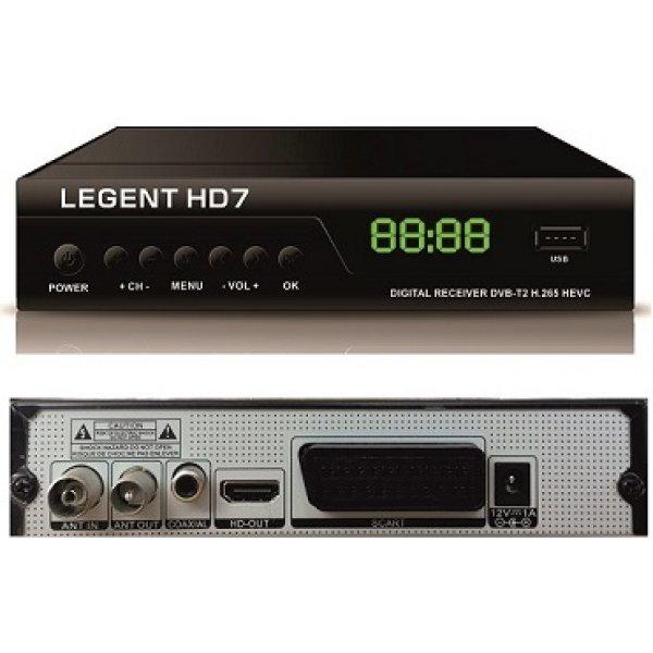 Δέκτης MPEG 4 DVB-T DVB-T2 επίγειος ψηφιακός HD7 LEGENT