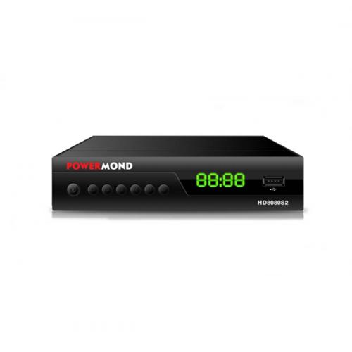 Δέκτης DVB-S/S2 FTA HD8080S2 HD με διπλό τηλεχειριστήριο POWERMOND