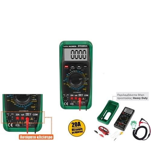 Πολύμετρο ψηφιακό basic μοτέρ & clamp DY2201D DUOYI