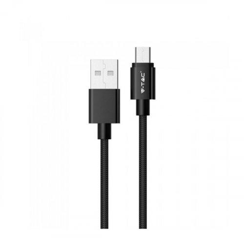 Καλώδιο φόρτισης & συγχρονισμού USB A -> micro USB 1m 2.4A μαύρο 8488 VT-5331 V-TAC