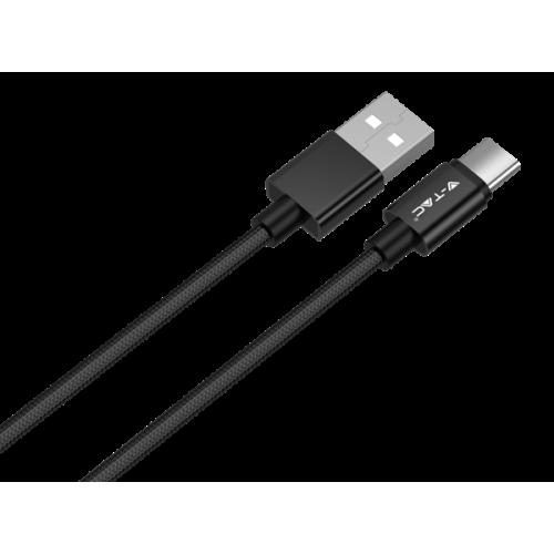 Καλώδιο φόρτισης & συχρονισμού USB A -> Type C 1m 2.4A μαύρο 8491 VT-5334 V-TAC