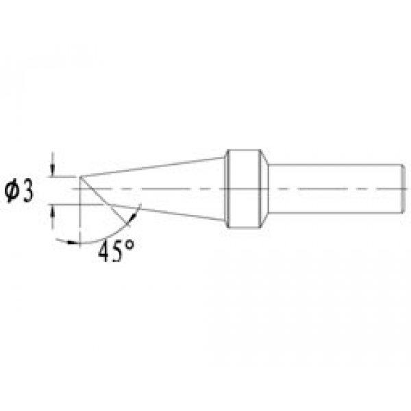 Μύτη κολλητηριού 3mm AT500 3C γα τον σταθμό AT330D Atten