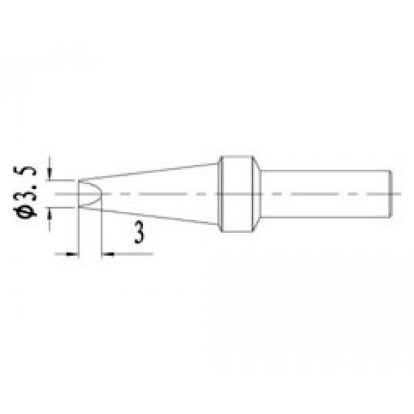 Μύτη κολλητηριού 3,5mm AT500 3.5D για τον σταθμό AT330D Atten
