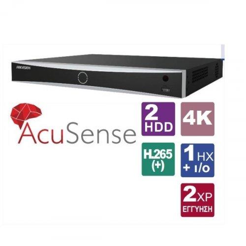 NVR 8 IP καναλιών 4K AcuSense DS-7608NXI-I2/4S Hikvision