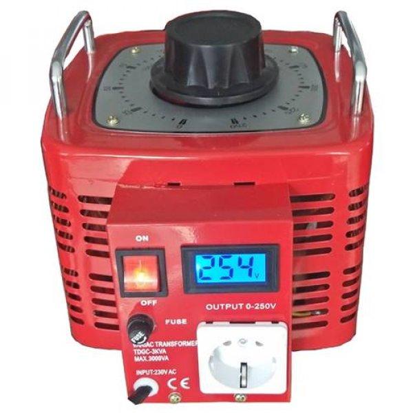 Μετασχηματιστής Μεταβλητός variac 0-230VAC 3000VA