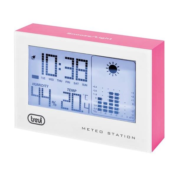 Μετεωρολογικός σταθμός με θερμόμετρο και ρολόι ME 3103 TREVI