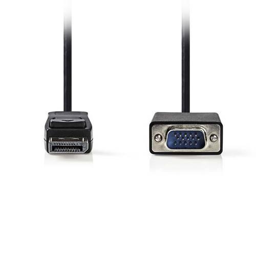 Καλώδιο DisplayPort αρσενικό -> VGA αρσενικό 2.0m CCGP37300BK20 Nedis