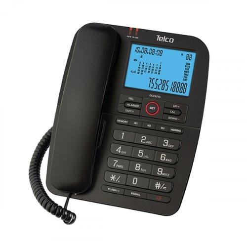 Τηλέφωνο ενσύρματο caller ID μαύρο GCE-6215 Telco