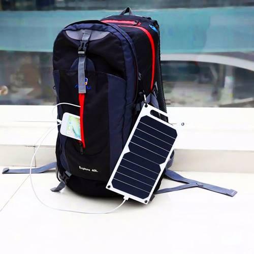 Πάνελ φωτοβολταϊκό 5W με φόρτιση USB 5V 1A SRUSB-5 Invictus