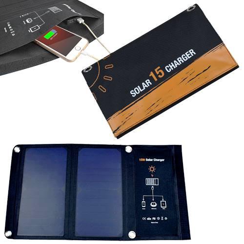 Πάνελ φωτοβολταϊκό 15W με φόρτιση USB 5V 3A SRUSB-15 Invictus