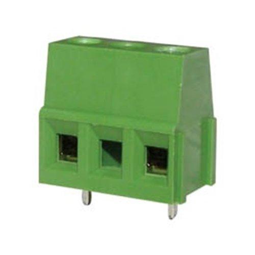 Κλέμα τυπωμένου 3Pins 14.3mm πράσινη ασανσέρ με κενό KF128-2P-2-4 DFT