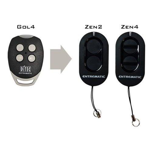 Τηλεχειριστήριο 4 εντολών γκαραζόπορτας 433,92 ΜHz GOL4 Ditec Entrematic Zen 4