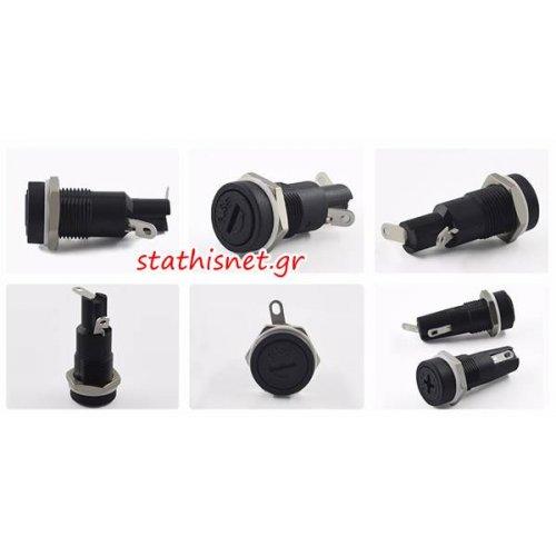 Ασφαλειοθήκη βιδωτή σασί 5x20mm 10A FH10-11-MZ Honyone