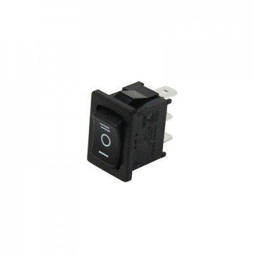 Διακόπτης rocker mini (ON)-OFF-(ON) 10A 230V 3P μαύρος χωρίς λυχνία επαναφορά 2xON R13-66I-02-BB-76D Sci