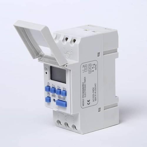 Χρονοδιακόπτης ράγας ψηφιακός 12v Dc 12A 1c/o LCD ημερήσιοι/εβδομαδιαίοι AHC15A ALION