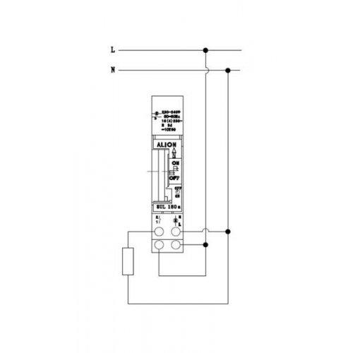 Χρονοδιακόπτης ράγας αναλογικός 230v Dc 16A 1c/o ημερήσιος AHC180b ALION